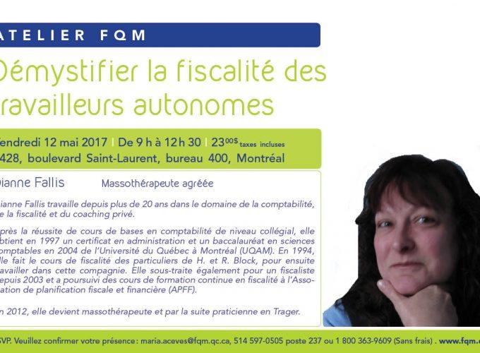 Atelier FQM | Démystifier la fiscalité des travailleurs autonomes
